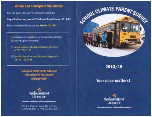 School Climate Survey 2015 - cover